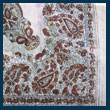 cream paisley pattern fancy cotton  headscarf